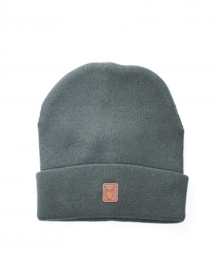 Knowledge Cotton Apparel Beanie Hat Forrest Night