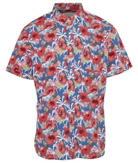 Knowledge Cotton Apparel Light Poplin Shirt Short-Sleeved