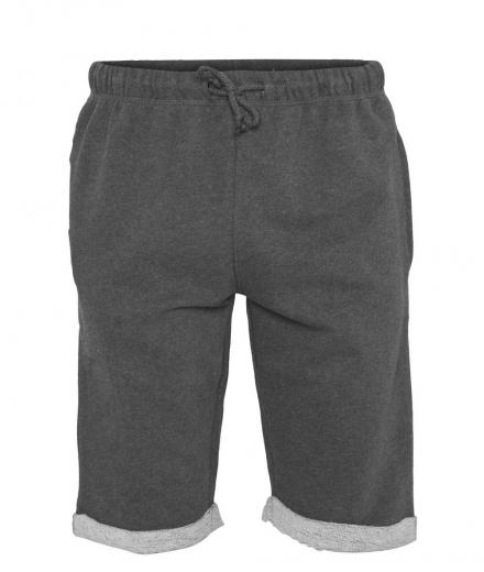 Knowledge Cotton Apparel Melange Sweat Shorts Dark Grey Melange