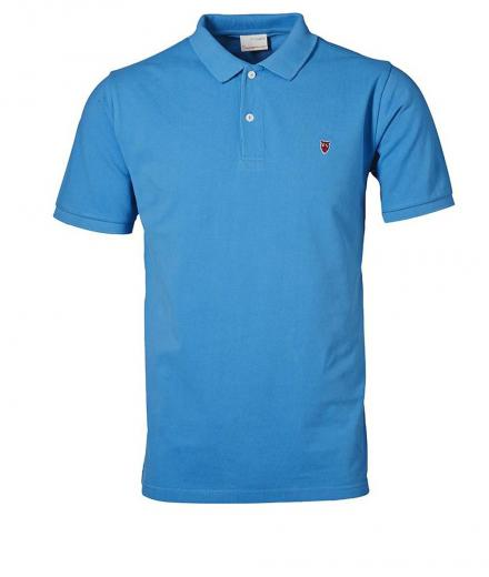 Knowledge Cotton Apparel Pique Polo GOTS Mediterranan Blue | S