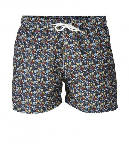 Knowledge Cotton Apparel Swim Shorts W/ Flower Print M