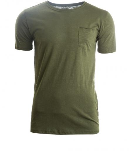 Knowledge Cotton Apparel Tee Cotton Slope - GOTS rifle green | M
