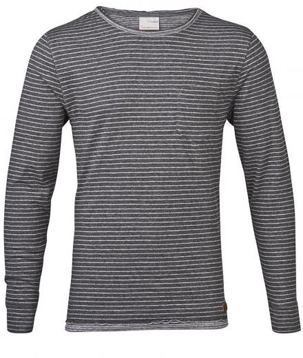 Knowledge Cotton Apparel Tee Double Layer Yarndyed Striped - GOTS
