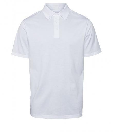 Knowledge Cotton Apparel Polo mercerized GOTS Bright White | L