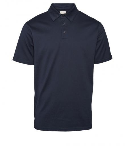 Knowledge Cotton Apparel Polo mercerized GOTS Total Eclipse | L