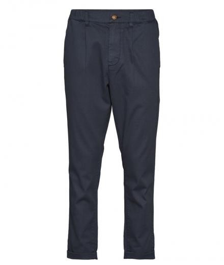 Knowledge Cotton Apparel Structured Pant with Elastic GOTS