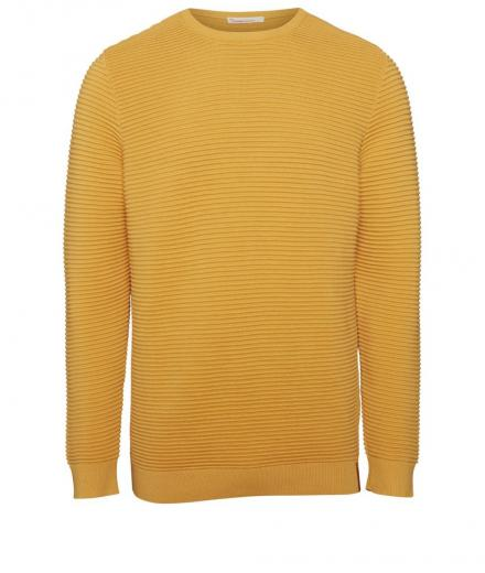 Knowledge Cotton Apparel Wave O-Neck Knit