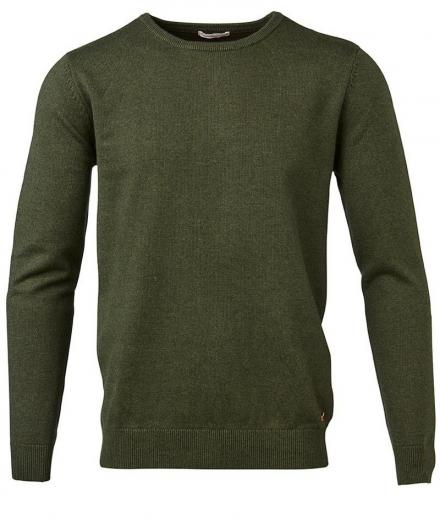Knowledge Cotton Apparel Basic O-Neck Cotton/Cashmere - GOTS rifle green | M
