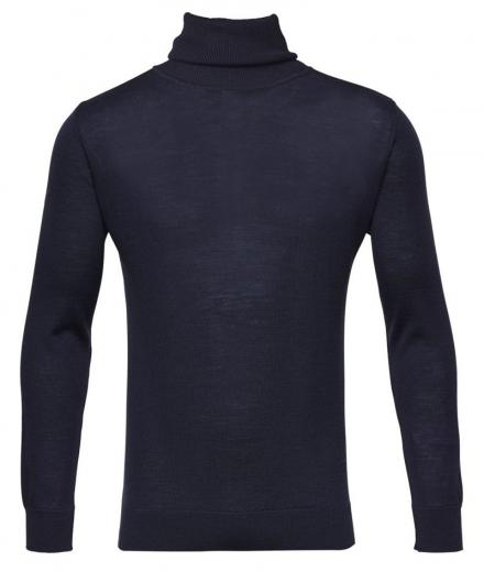 Knowledge Cotton Apparel Roll neck Total Eclipse | L