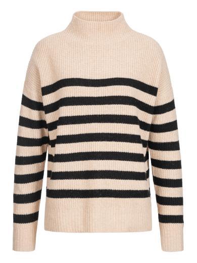 Lanius Boxy-Pullover mit Streifen Cream mel./ Black