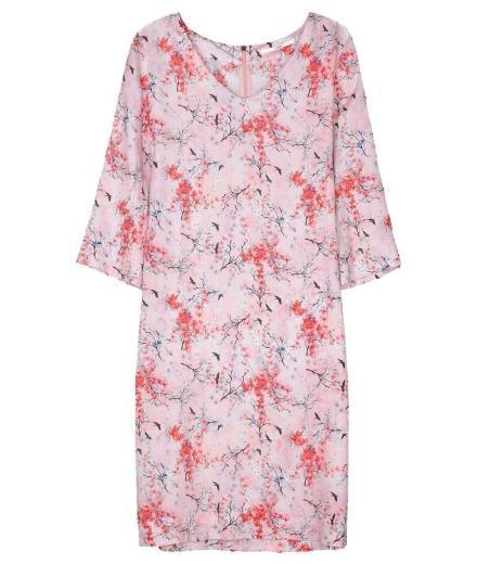 LANIUS Kleid mit Gürtel print blossom nude | 36