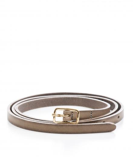 LANIUS Small Leather Belt Taupe
