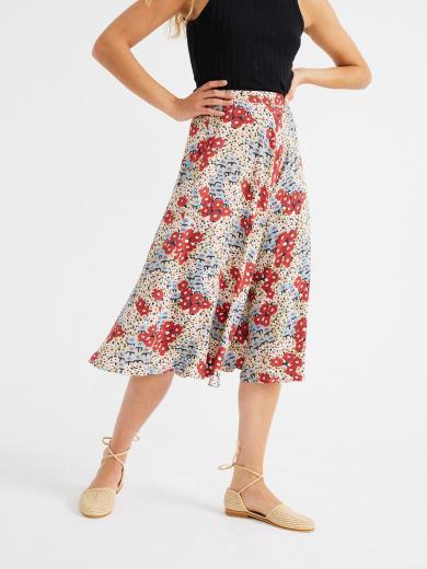 Thinking MU Lavanda Skirt beige