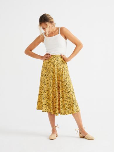 Thinking MU Lavanda Skirt mustard
