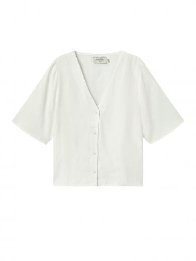 Thinking MU Hemp Libelula Blouse Off White