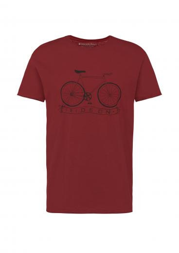 recolution T-Shirt Casual #RIDEON burgundy | L
