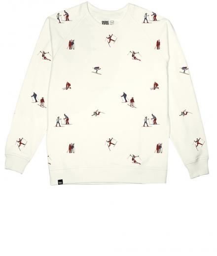 DEDICATED Malmoe Sweatshirt Ski People white | M