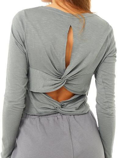 MANDALA Cross Back Shirt grey