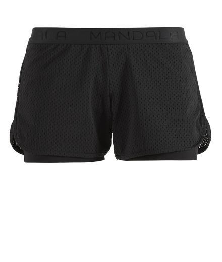 MANDALA Yoga Shorts black