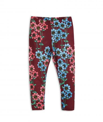 Mini Rodini Daisy Leggings burgundy | 104/110