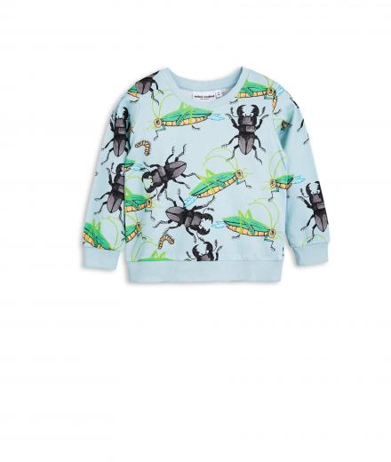 Mini Rodini Insects Sweatshirt light blue | 80/86