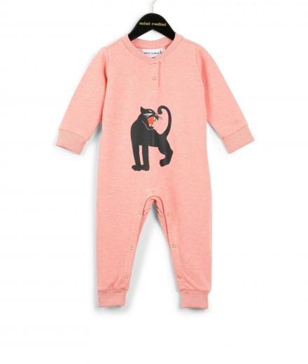 Mini Rodini Panther SP Onesie Pink Mel