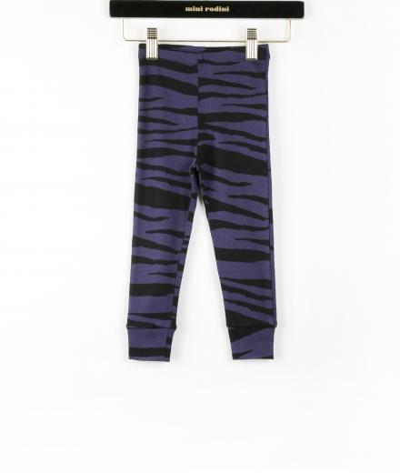 Mini Rodini Tiger Stripes AOP Leggings DK Blue