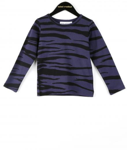 Mini Rodini Tiger Stripes AOP LS Tee 104/110