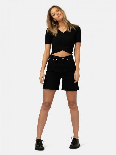 MUD JEANS Beverly Short Dip black