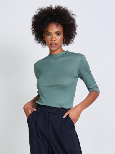 JAN 'N JUNE T-Shirt Nina rib Dark Mint