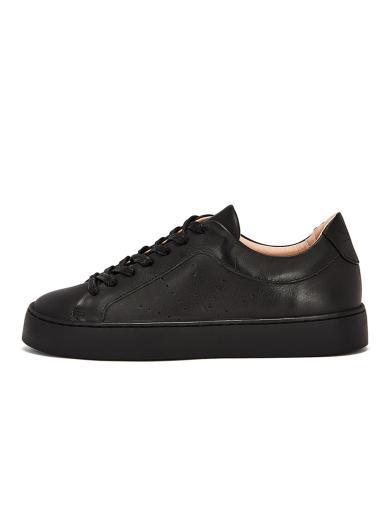 NINE TO FIVE Laced Sneaker #Gracia Black star   37