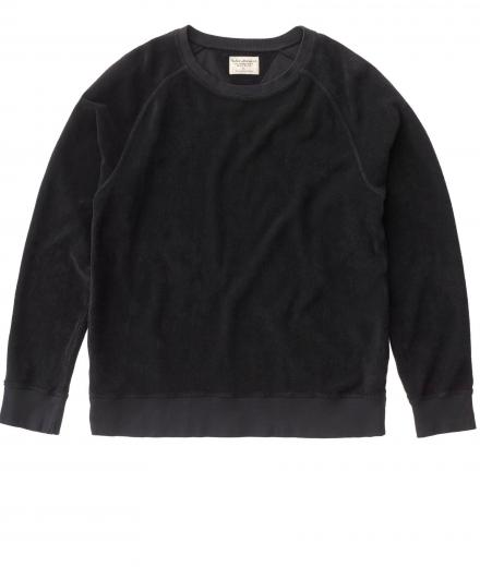 NUDIE JEANS Samuel Terry Sweatshirt black | M
