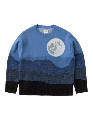 Nudie Jeans Lena Moon Sweater Blue
