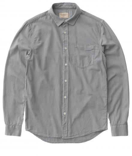Nudie Jeans Henry Batiste Garment Dye ash | M