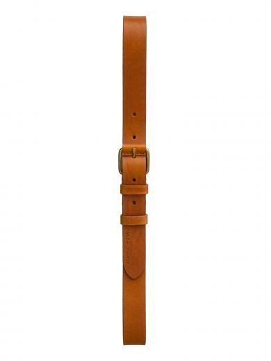 NUDIE JEANS Dwayne Leather Belt cognac