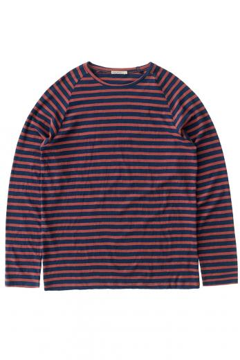 Nudie Jeans Otto Breton Stripe blue / dusty