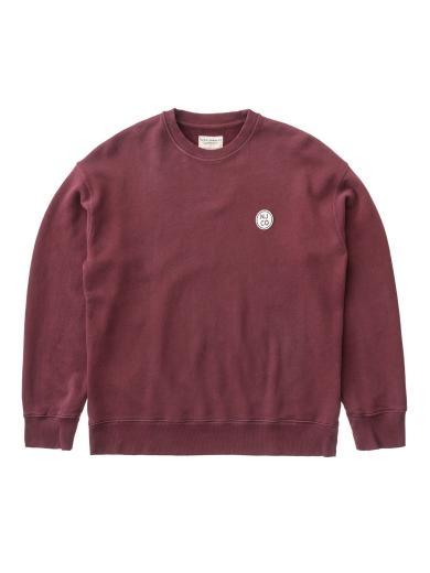 Nudie Jeans Lukas Logo burgundy | M