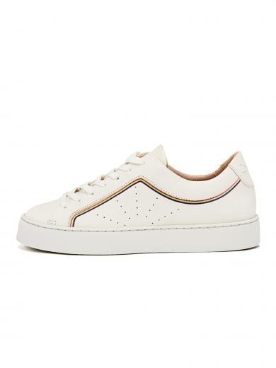 NINE TO FIVE Laced Sneaker #Gracia rainbow line