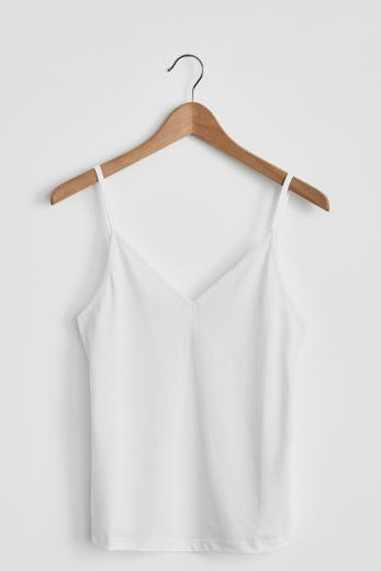 NINE TO FIVE Camisole #CHIEM white | L