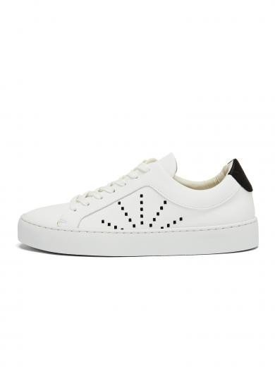 NINE TO FIVE Laced Sneaker #gracia white micro