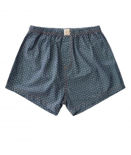 Nudie Jeans Boxers Chambray Cross indigo | M