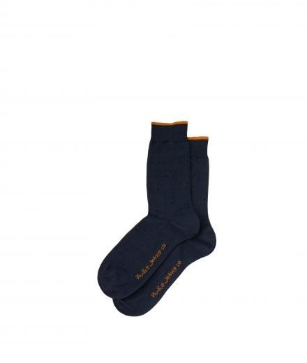 Nudie Jeans Olsson Socks Four Dots indigo