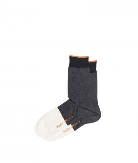 Nudie Jeans Olsson Toe Panel Socks Dark Grey