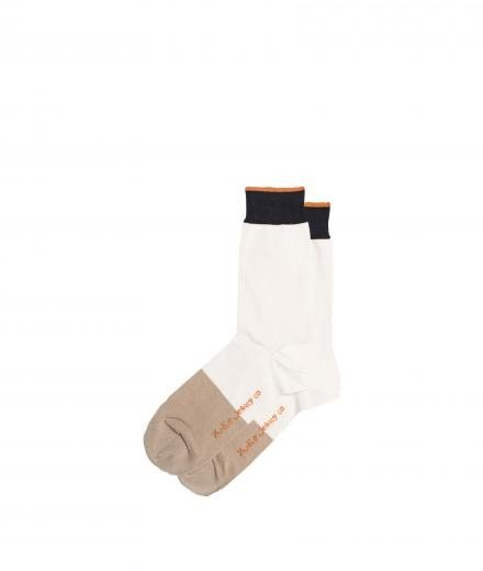 Nudie Jeans Olsson Toe Panel Socks offwhite
