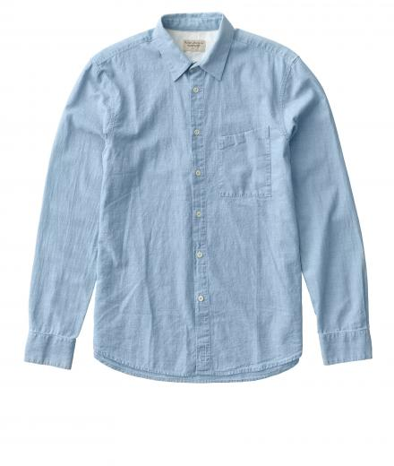 Nudie Jeans Stanley Light Shade Chambray Denim L