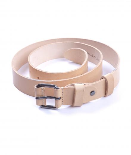 Nudie Jeans Belt Leather Wayne 90cm | natural