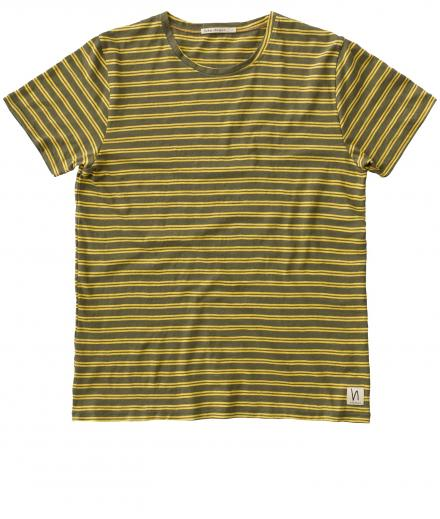 Nudie Jeans Anders Double Stripe beech green | L