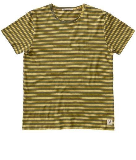 Nudie Jeans Anders Double Stripe beech green | XL