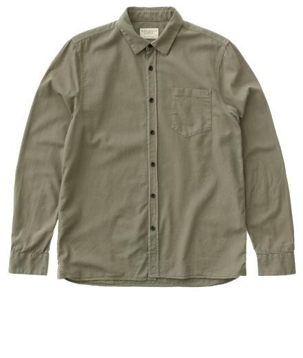 Nudie Jeans Henry Batiste Garment Dye dessert green | L