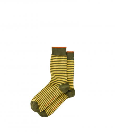 NUDIE JEANS Olsson Micro Stripe Socks onesize | sun yellow